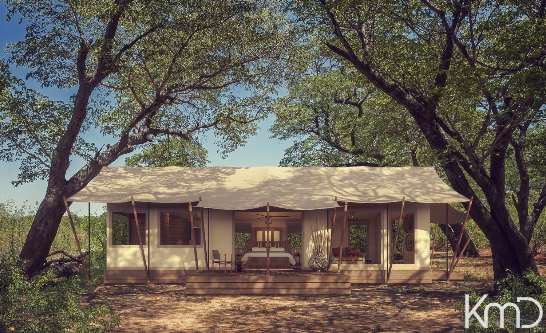 3D-Rendering-Tented-Bush-Camp-Botswana-1