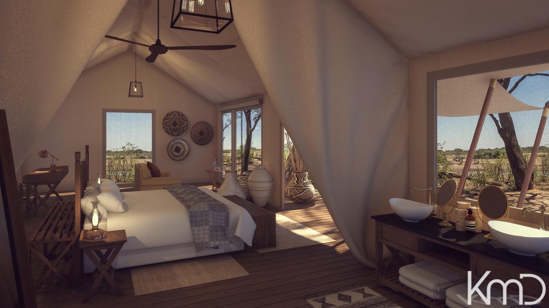 3D-Rendering-Tented-Bush-Camp-Botswana-2