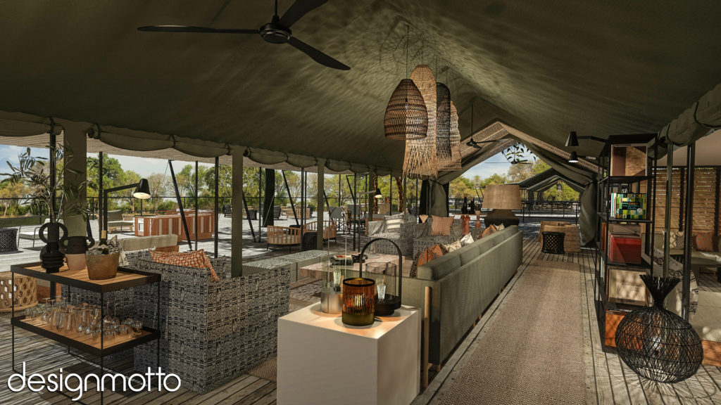 3D Rendering - Tented Bush Camp - Zimbabwe